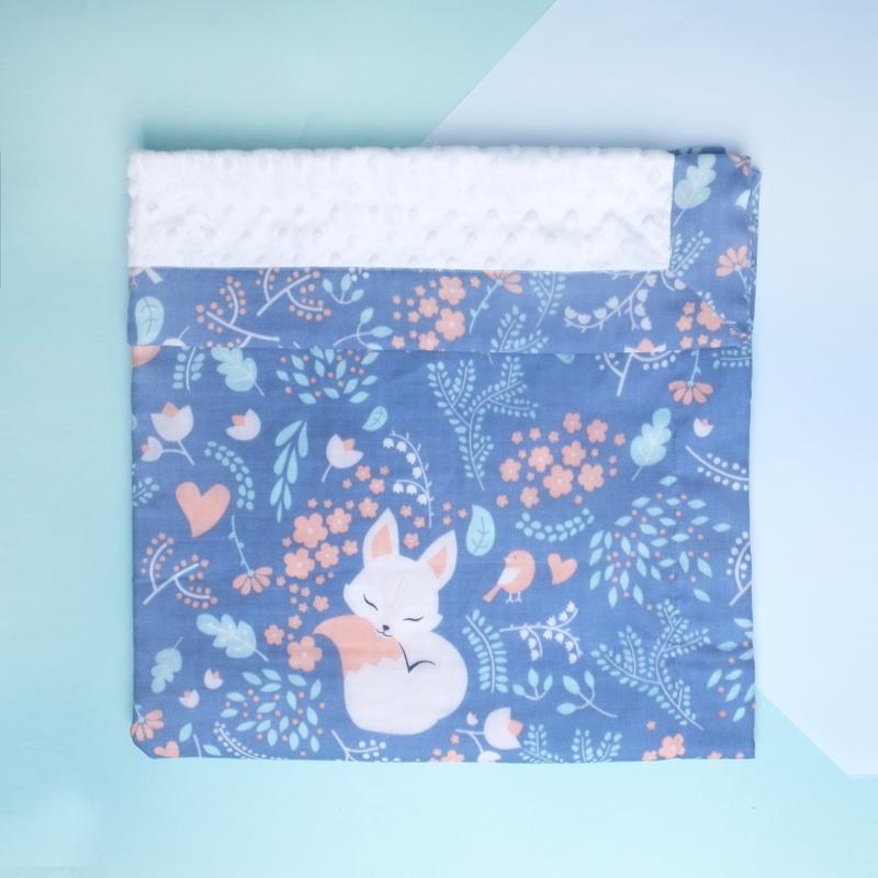 Minky Baby Blanket- Midnight Fox