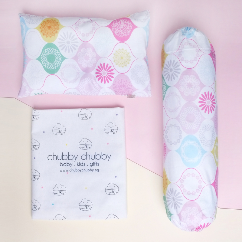 Two is better than one bundle- Pillow & Bolster Geometric Pink