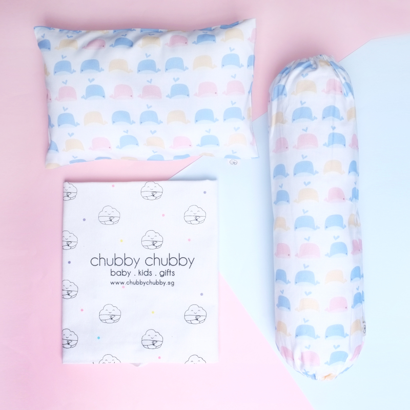 Two is better than one bundle- Pillow & Bolster Baby Whales