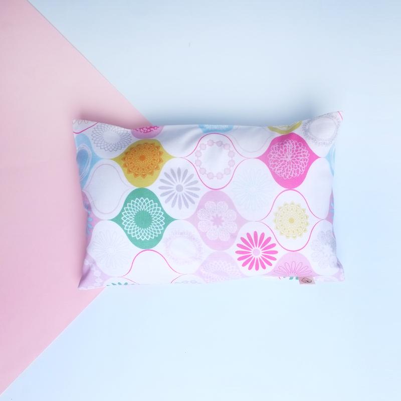 Anti-flat head pillow Geometric Pink