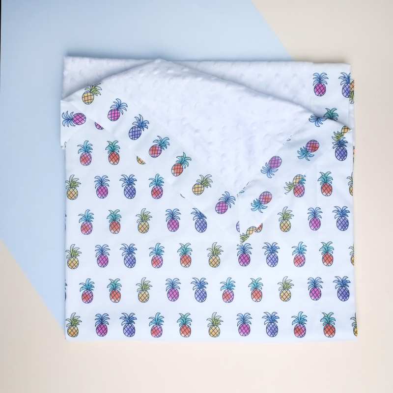 Minky Baby Blanket- Pineapples Craze