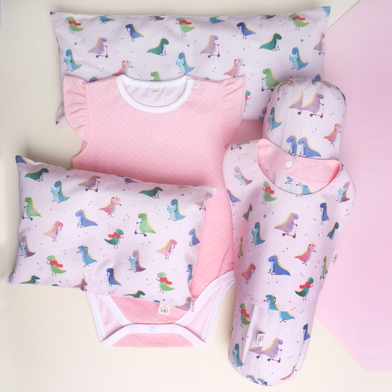 Pink Playful Dinos Gift Set