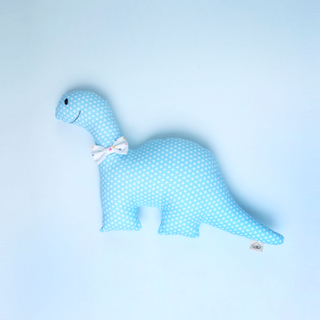 Happy Blue Rattle Dino Plush Toy