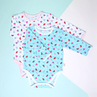 Baby Basics - Long sleeve duo Watermelons