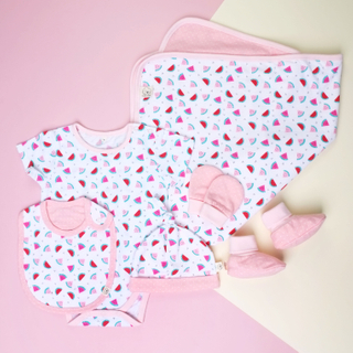 Baby Layette with Blanket- Watermelons