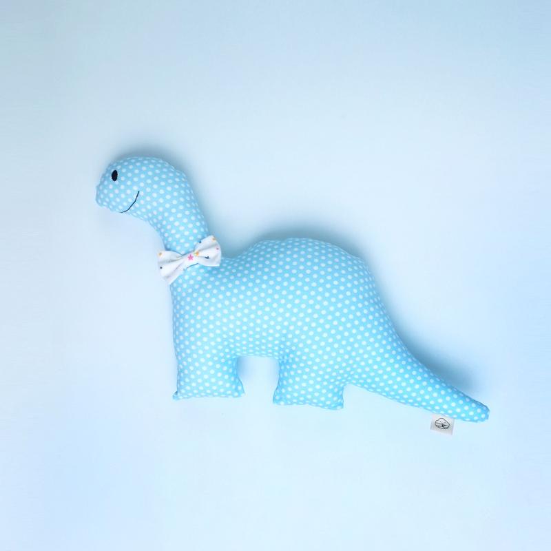 Happy Blue Rattle Dino Plush Toy