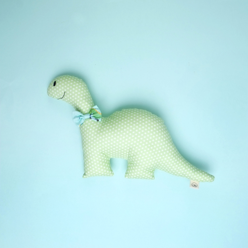 Lime Green Rattle Dino Plush Toy