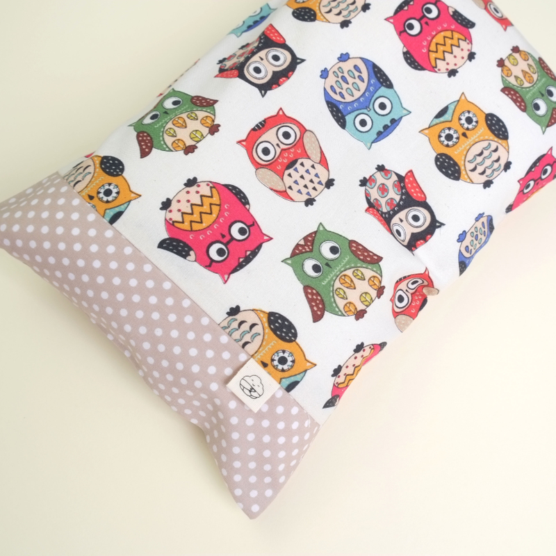 Anti-flat head pillow Oh Funky Owls