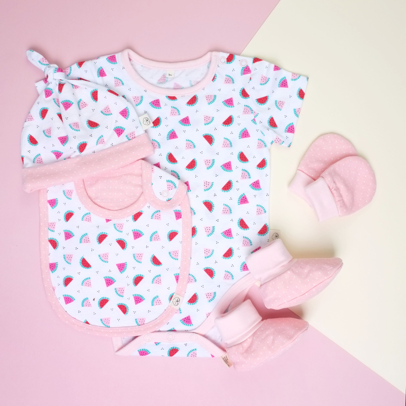 Baby Layette- Pink Watermelons