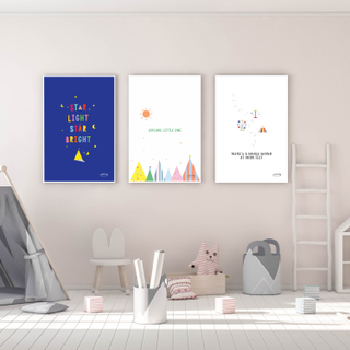 Nursery Wall Art - Series of 3