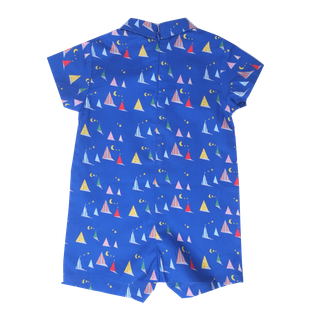 Baby Boy's Mini Collar Romper - Midnight Tent