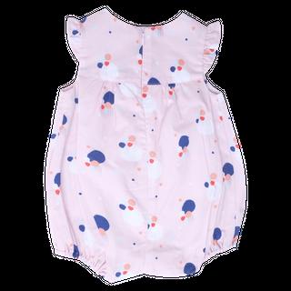Baby Girl's Bubble Flutter Sleeve Romper - Pink Confetti
