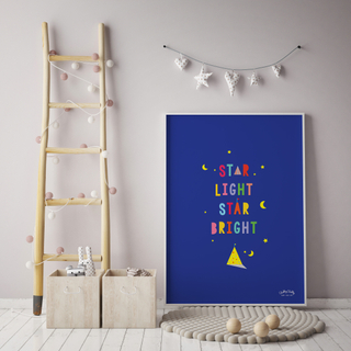 Nursery Wall Art - Explore Little One | Whole World | Star Light