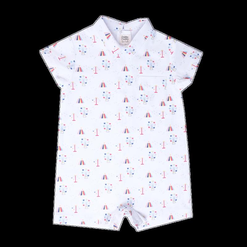 Baby Boy's Mini Collar Romper - Carnival