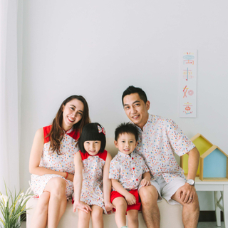 Daddy's Mandarin Collar Shirt - Togetherness