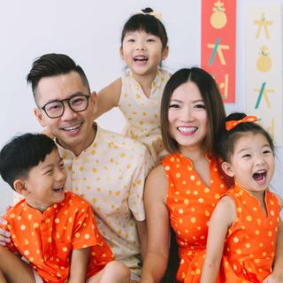 Daddy's Mandarin Collar Shirt - Ji-Oranges Beige