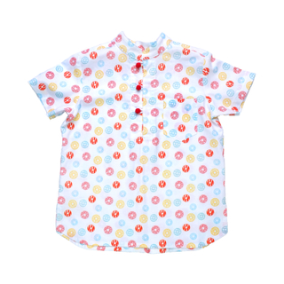 Boy's Knot Shirt - Fortune Coins Multi-Color