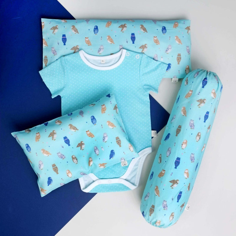 Wise Teal Owls Gift Set