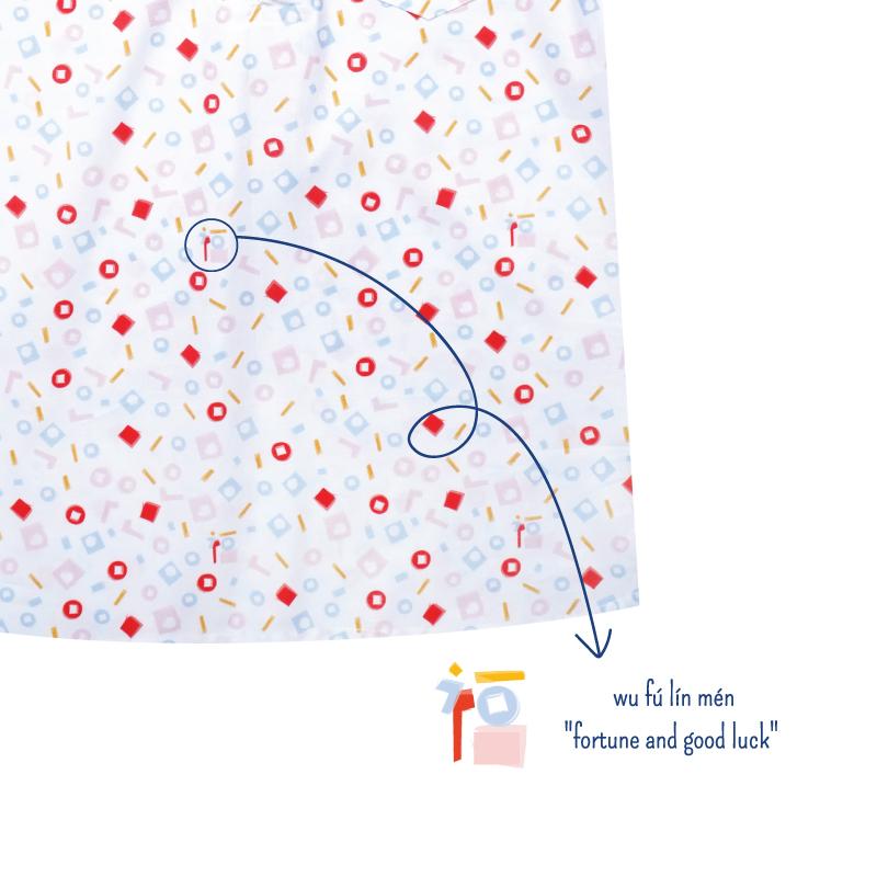 Boy's Knot Shirt - Playful Blocks - Pastel