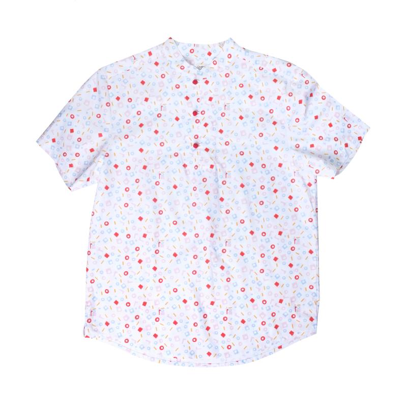 Daddy's Knot Shirt - Playful Blocks - Pastel