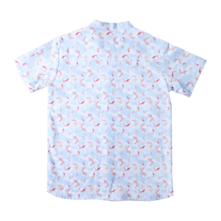 Boy's Mandarin Shirt - Plentiful Koi - Blue