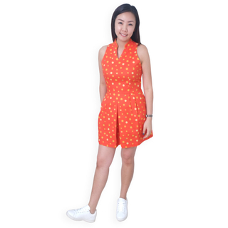 Mommy's V-Neck Playsuit - Ji- Oranges