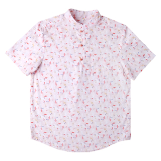 Daddy's Knot Shirt - Plentiful Fish - Coral