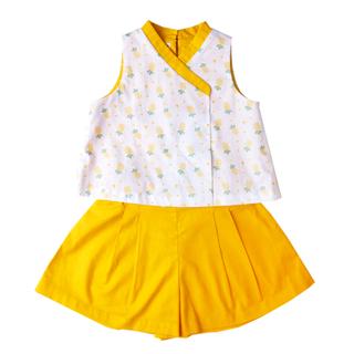 Girl's Kimono Set - Wang Pineapple