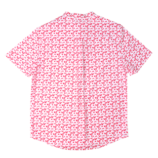 Boy's Knot Shirt - Red geometrics