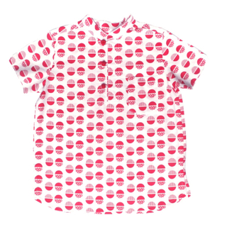 Boy's Knot Shirt - Red Circles