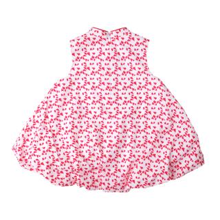 Bubble dress  - Red Geometric