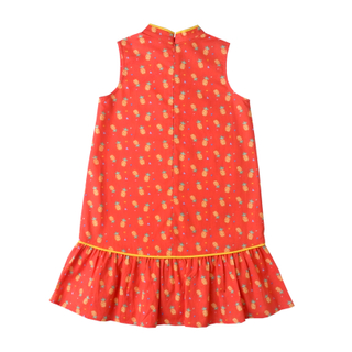 Girly Cheongsam - Wang Pineapple - Orange