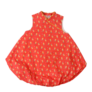 Bubble dress  - Wang Pineapples Red