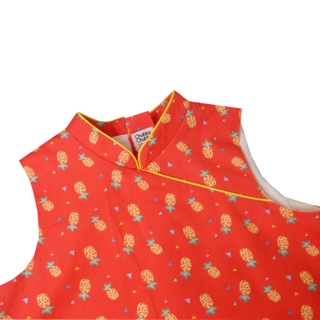 Bubble dress  - Wang Pineapples Orange