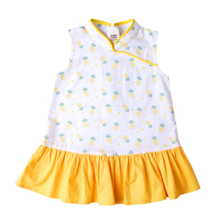 Girly Cheongsam - Wang Pineapple - Yellow