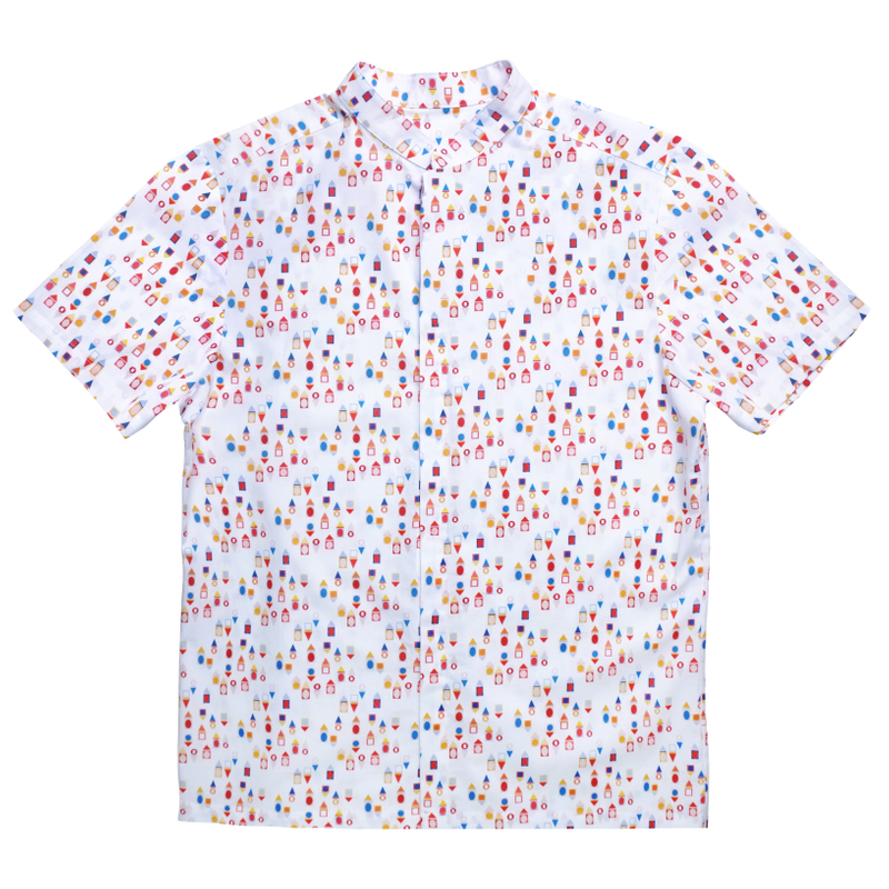 Daddy's Mandarin Collar Shirt - Togetherness
