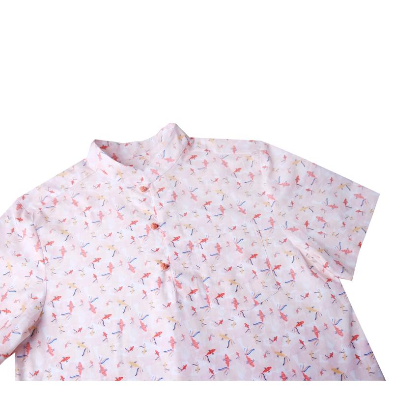 Daddy's Knot Shirt - Plentiful Fish - Coral