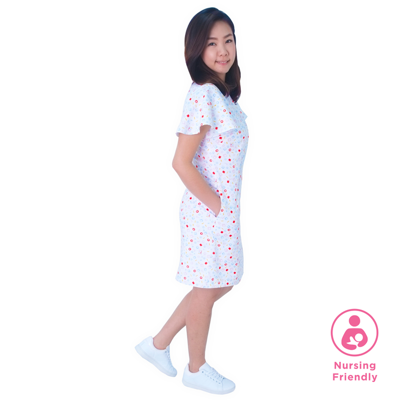 Mommy's Shirt Cheongsam - Playful Blocks - Pastel