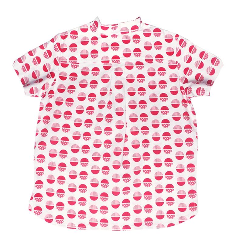 Boy's Knot Shirt - Red Circles