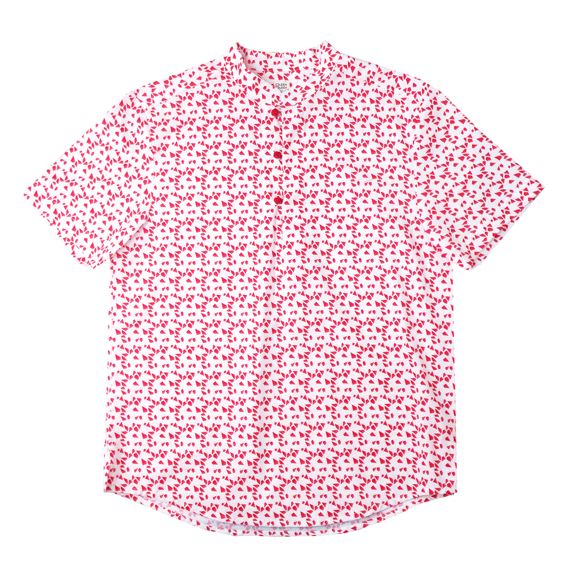 Daddy's Knot Shirt - Red Geometric
