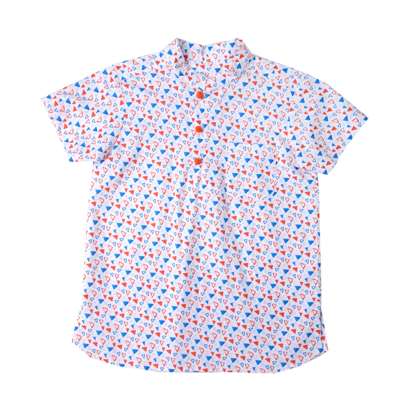 Boy's Knot Shirt - Joyful Triangles