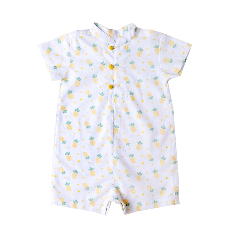 Baby Boy Knot Romper - Wang Pineapple