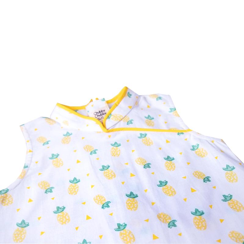 Girly Cheongsam - Wang Pineapple - Yellow