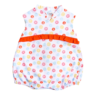 Baby Girl's V Romper  - Fortune Coins Multi Color