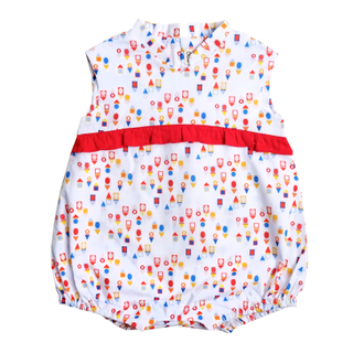 Baby Girl's V Romper  - Togetherness