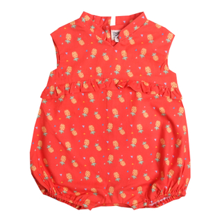 Baby Girl's V Romper  - Wang Pineapple -Orange