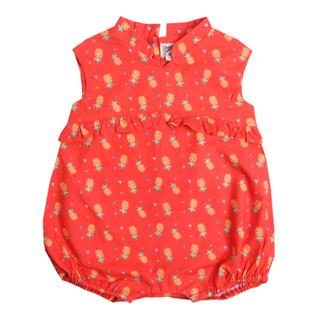 Baby Girl's V Romper  - Wang Pineapple -Orange