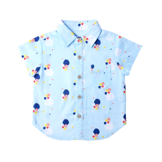 Blue Confetti Boy Shirt
