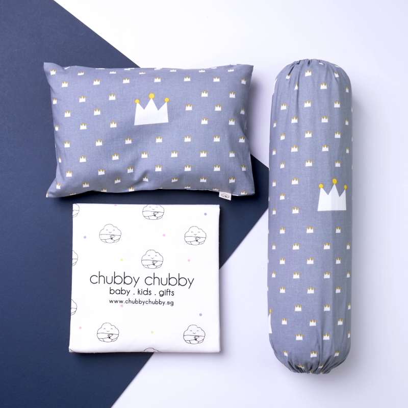 Two is better than one bundle- Pillow & Bolster Crown Prince Grey