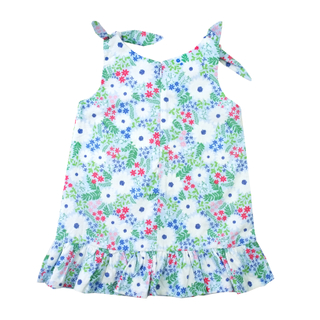 Blue Blossoms Knot Dress